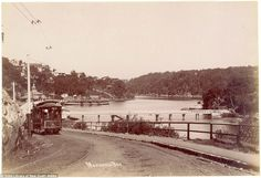 A photograph of Mosmans Bay circa 1905 shows a tram travelling down a hill and around a corner down towards a wharf, with a passenger ferry parked in the background Life Is Like, North Shore, Capital City, Historical Photos, East Coast, Mail Online, Daily Mail, Worlds Largest, Sydney