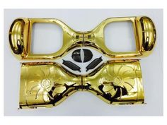 """Replacement Skin Cover Smart Self Balancing Electric Board Scooter For 6.5"""" Wheel Base CHROME GOLD"""