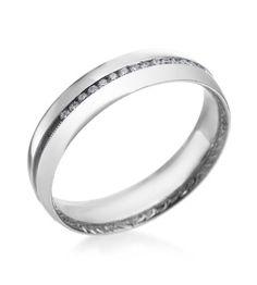 Love diamonds for mens wedding bands! Tacori - Platinum Men's Wedding Band