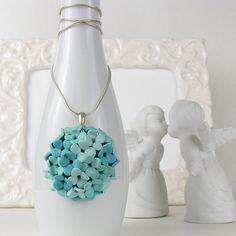 Hey, I found this really awesome Etsy listing at https://www.etsy.com/listing/181277867/lil-bouquet-polymer-clay-blue-hydrangea