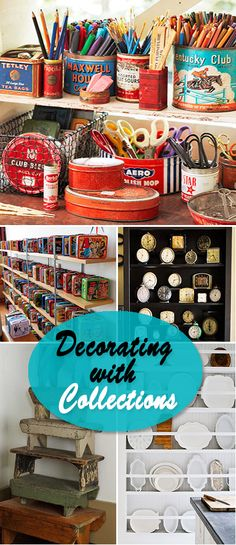 Fun for Art Pencils, Brushes! Decorating with Collections Retro Home Decor, Diy Home Decor, Diy Blanket Ladder, Displaying Collections, Decorating On A Budget, My New Room, Retro Design, Getting Organized, Decor Styles