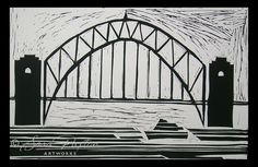 Sydney Harbour Print by Sara Paxton. Available in store at www.sarapaxtonartworks.com