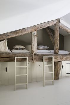 At Bassivière, there are 5 loft-style apartments of which four are within the old barn and the fifth is in the original Pigeonnier. The apartments are about 100 to 140 square meters and each of them has a different layout with creative and fun sleeping areas for the kids.