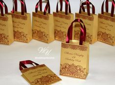 Gold Birthday Gift Bags For Small Gifts Custom By WeddingUkraine
