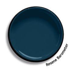 Resene Barometer is a solemn deep blue, rising to teal and falling to Prussian blue, atmospheric and mercurial. Try Resene Barometer with pale grey greens, diffused off-whites and taupe browns. Exterior Colors, Exterior Paint, Interior Paint Colors, Paint Colours, Wall Colours, Interior Design, Resene Colours, Colored Ceiling, Ceiling Color