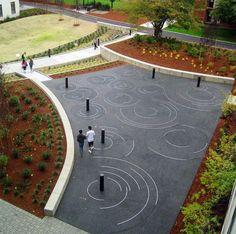 Love this porous paving pattern Landscape Plaza, Landscape Architecture Design, Landscape Lighting, Urban Landscape, Oregon Landscape, Architecture Diagrams, Landscape Architects, Architecture Portfolio, Modern Landscaping