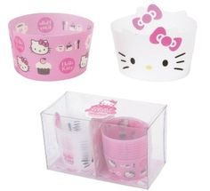 Hello Kitty Cup cake/muffin Wrapper Set by Sanrio, not on sale tho, maybe I can make the white ones!?