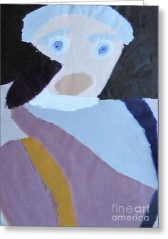 Patrick Francis Designer Greeting Card featuring the painting Portrait Of A Lady by Patrick Francis.
