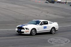 Ford Mustang 50th Birthday Celebration at Charlotte Motor Speedway. The DSE 1966 Mustang Test Car was also out on the track with BFGoodrich Tires all afternoon as Detroit Speed's Kyle Tucker made numerous passes giving customers a chance to sit in the passenger seat and get a taste of high speed on the high banks of Charlotte Motor Speedway.