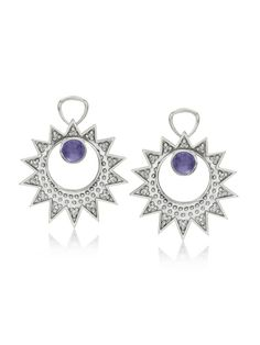 Lilly Street Sterling Silver Iolite Diamond Earring Charm