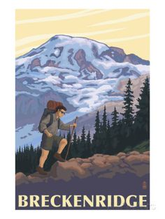 Breckenridge, Colorado - Mountain Hiker Posters by Lantern Press at AllPosters.com
