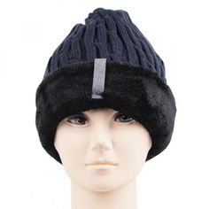edc5f1d6930 Bonjour Retail Men s Woolen Knitted Beanie Cap In Navy Color