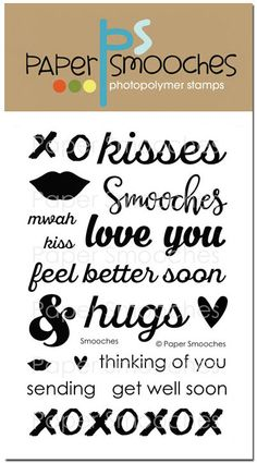 Smooches stamp set by Paper Smooches