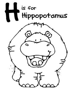 We Love Being Moms!: Letter H (Hippopotamus)
