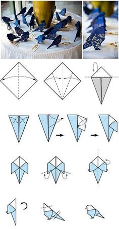 DIY Paper Bird Decor To set around as decor