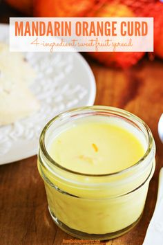 This Mandarin Orange Curdrecipe is a luscious sweet fruit spread with only 4 ingredients. Its perfect for spreading on toast biscuits scones serving with fruit or using in many other delicious ways. Satsuma Recipes, Fruit Recipes, Sauce Recipes, Dessert Recipes, Citrus Recipes, Jam Recipes, Breakfast Recipes, Recipies, Healthy Recipes