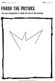 Imagination Workout Creativity Test Drawing Sub Art Lesson