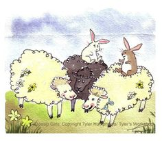 water color sheep - Google Search