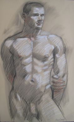 'MB 029A' by Mark Beard, 2010. Graphite, charcoal and conte crayon on paper.