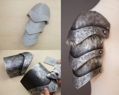 EVA Foam: Affordable costumes and props! - KamuiCosplay - Helpful tips for using Eva foam to build armor. Even thinner Eva foam. So good tips on what primer - Cosplay Armor Tutorial, Costume Tutorial, Destiny Cosplay, Viking Cosplay, Cosplay Diy, Eva Foam Armor, Craft Foam Armor, Costume Armour, Accessoires Photo