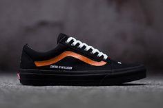 Vans x Control is an Illusion Vans Old Skool Custom Black White Orange Vans For Sale Best Casual Shoes, Best Shoes For Men, Casual Sneakers, Sneakers Fashion, Moda Sneakers, Addidas Sneakers, Tenis Vans, Vans Old Skool Custom, Vans Vintage