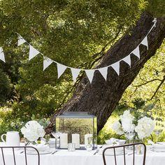 Garden Bunting, The White Company, Summer Parties, Outdoor Entertaining, Fairy Lights, Garden Inspiration, Summer Collection, Decorative Accessories, Outdoor Gardens