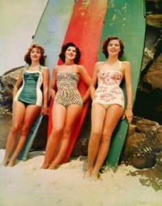 surf boards but the bathing suits rock !! My mothers style