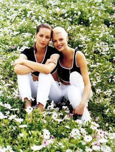 Christy and Linda. Harper's Bazaar, May 1995