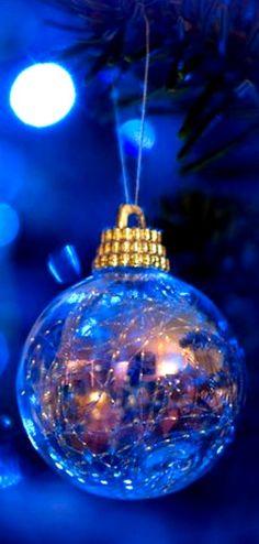 Royal Blue Christmas Ornament