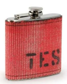 Repurposed Fire Hose Stainless Steel Flask - None | Smithsonian.com Store
