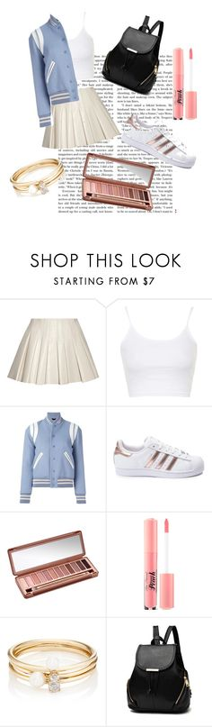 """Football Game"" by kenzie005sos ❤ liked on Polyvore featuring Alexander Wang, Topshop, Yves Saint Laurent, adidas, Urban Decay, Too Faced Cosmetics and Loren Stewart"
