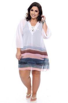 Brunette in Casual Fashion @ Daluz Plus Size Plus Size Dresses, Plus Size Outfits, Short Dresses, Curvy Women Fashion, Plus Size Fashion, Mode Plus, Looks Plus Size, Fashion Line, Plus Size Swimwear