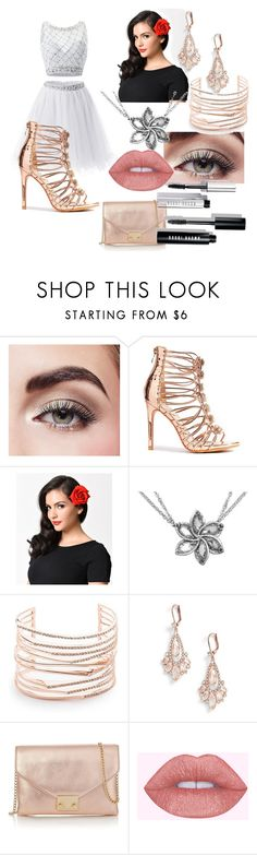 """""""rose gold and beauty"""" by myjaehenry on Polyvore featuring Avon, Alexis Bittar, Kate Spade, Loeffler Randall and Bobbi Brown Cosmetics"""