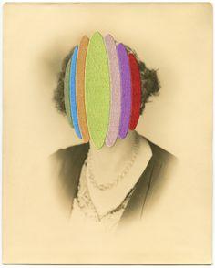 Maurizio Anzeri's garnished portraits