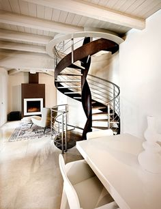 Spiral helical #stairs VORTIKA by OFFICINE SANDRINI