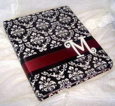 red black and white wedding guest book   WEDDING GUEST BOOK Black Damask and Red by itsmyday on Etsy