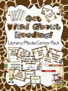 Get Wild About Reading! Library/Media Center Pack  Includes over 80 pages to decorate your library/media center and to promote reading.  All for only $7.00 on TpT.