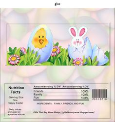 GIFTS THAT SAY WOW - Fun Crafts and Gift Ideas: Free Printable Easter Candy Wrapper