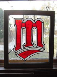 Minnesota Twins Stained Glass