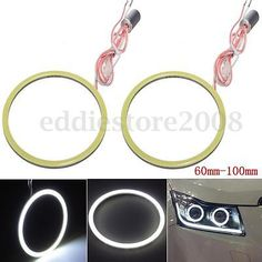 2x car cob led smd angel eyes halo ring #headlight #lights #60mm~100mm white ,  View more on the LINK: 	http://www.zeppy.io/product/gb/2/361642006335/