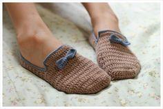 Crochet Slippers by 나무 :: 네이버 블로그 - photo tutorial