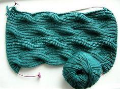 Very nice, BUT HOW!!!!!!!! - Двухсторонние узоры спицами для шарфов: извилистый узор от Kathleen Cubley