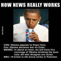 Obama is seen drinking Pepsi