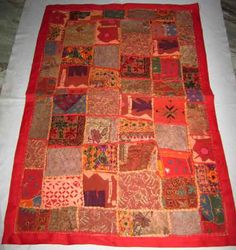 Indian hand embroidered patchwork cute work by fashiononaindia, $22.00