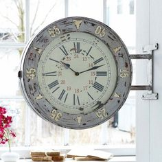 vintage wanduhr holz metall grosse wanduhr. Black Bedroom Furniture Sets. Home Design Ideas