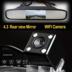 47.39$  Buy now - http://ali2gy.shopchina.info/go.php?t=32617083712 - Mini Parking WIFI Camera Wireless Universal Car Rear View Camera with Night Vision Camera+4.3 Inch mirror monitor  #magazineonline