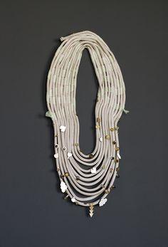 beaded t-shirt yarn necklace
