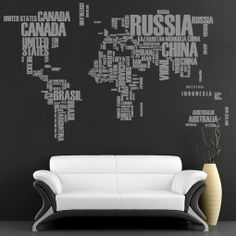 Wall Decal. World Map