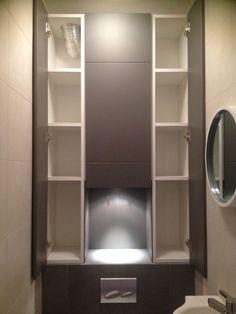 1000 ideas about wc suspendu on pinterest avant apr s for Placard wc suspendu