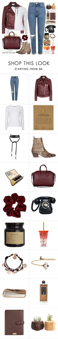 """""""2548. Be strong enough to stand alone, smart enough to know when you need help, and brave enough to ask for it."""" by chocolatepumma ❤ liked on Polyvore featuring Topshop, Acne Studios, Dogeared, Sandro, Ted Baker, Givenchy, Alcozer & J, Serge Lutens and Lodis"""